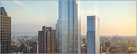New dual-tower high-rise complex debuts in Chicago