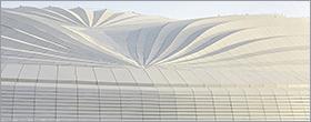 Zaha Hadid designed Qatar stadium resembles the pleats of a ship's sail