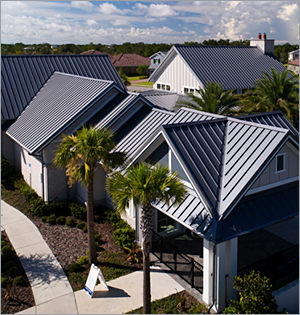 Metal roof brings a 'front porch lifestyle' to Florida clubhouse