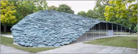 New Serpentine Pavilion resembles a 'hill made out of rocks'