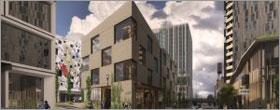 Portland CLT building utilizes empty street to create office space