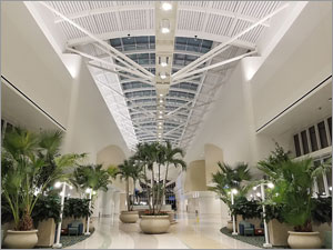 Orlando airport facility topped with aluminum skylight