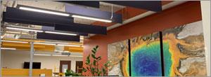 Paintable acoustic panels allow design flexibility