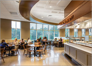 Mass. dining hall creates intimate atmosphere with new ceiling system