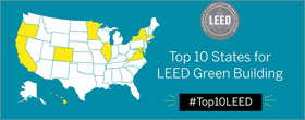 Revealing the top 10 LEED states