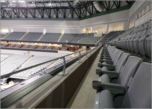 Texas arena utilizes architectural railings to amplify fan experience
