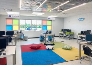 Chicago school modernizes classrooms with acoustic ceiling panels