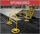 Quick fall protection in one non-penetrating railing package