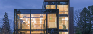 Fire-rated curtain wall supports Maine center's green goals