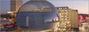 California museum uses laminated glass to provide structural strength for its unique dome
