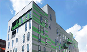 Philadelphia condos feature a unique façade with metal wall panels