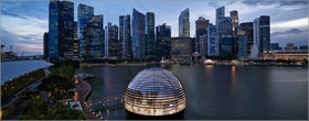 Apple's most ambitious retail store floats on Singapore's Marina Bay
