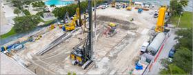 Construction underway for Miami's most expensive, deepest underground garage