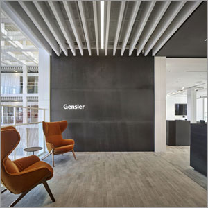 Gensler's Tampa office optimizes acoustics with stone wool baffles