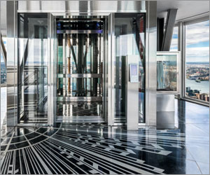Empire State Building's observatory offers clear, safe viewing with fire-rated glass