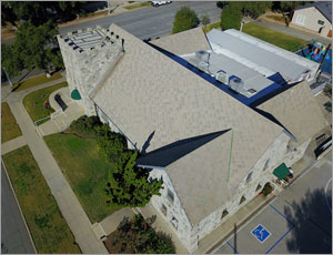 California church revitalizes roof with metal shingles