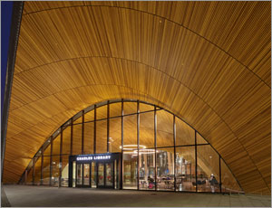 Philadelphia library creates warm, inviting space with wood