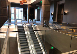 Architectural railings complement Kentucky hotel's minimalist design
