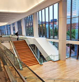 Architectural glass railings used in Kentucky convention center renovations