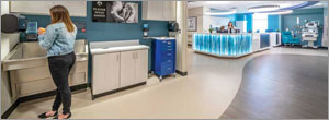 Impact of flooring on healthcare visitors
