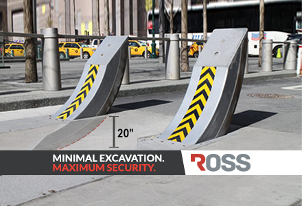 Ross Technology XT-2200 Heald Raptor M50-P1 Shallow Mount Retractable Bollard