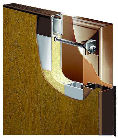 SL-19-1 Woodgrain FRP/Aluminum Hybrid Door