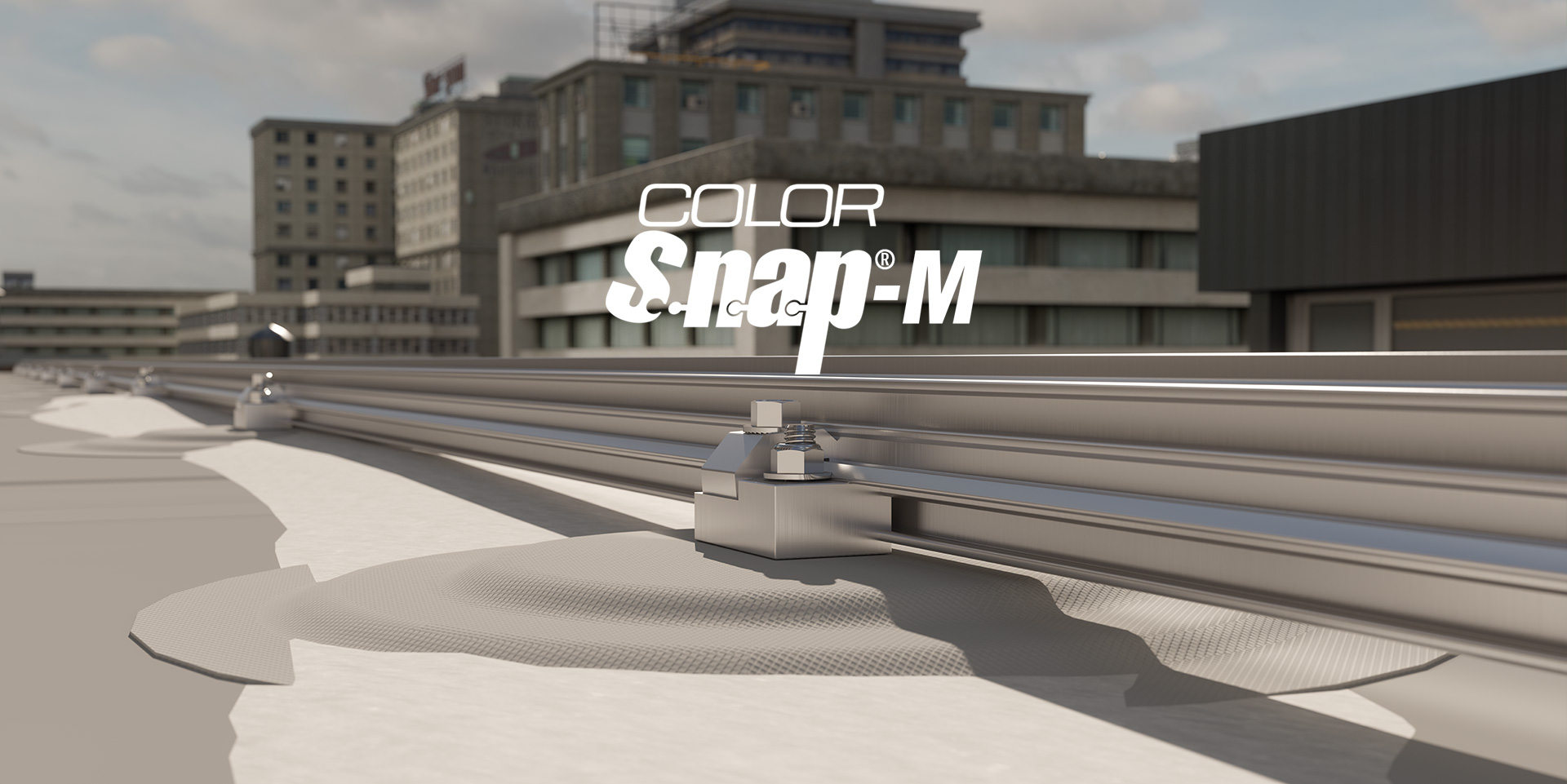 Color Snap®-M Snow Retention for Membrane Roofs