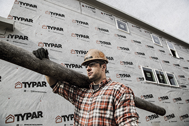 TYPAR<sup>®</sup> Drainable Wrap: Boosted defense for bulk water.