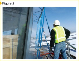 Verification of window performance with ASTM E1105, Standard Test Method for Field Determination of Water Penetration of Installed Exterior Windows, Skylights, Doors, and Curtain Walls by Uniform or Cyclic Static Air Pressure Difference.