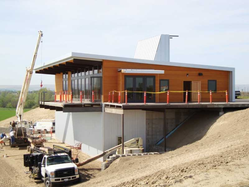 amazing sip buildings #1: The Amavi Winery (Walla Walla, Wash.) uses SIPs to help achieve the