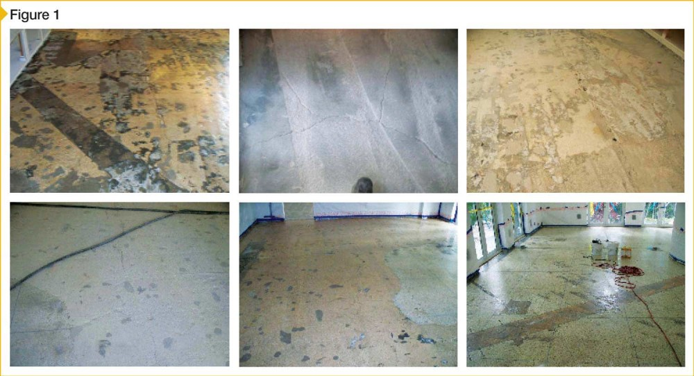 All the terrible concrete conditions pictured above come from one single-family residence, a $5.6-million home in Florida. Concrete with cracks, cuts and patches from previous renovations, crumbling surfaces, and uneven elevations are common not only in homes, but also in retail and commercial facilities both new and old. If polished, concrete like this will show its scars. Images courtesy AmeriPolish Inc.