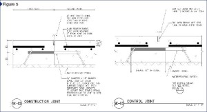 The slab reinforcement was stopped 76.2 mm (3 in.) from the joint on both sides.