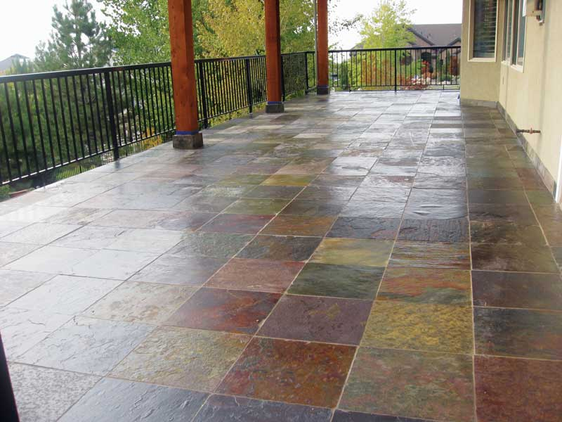 A Finished Tile Deck With Waterproof Membrane