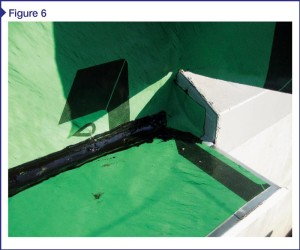 Air barrier at base of wall is also functioning as the moisture barrier. Image courtesy CTL Group