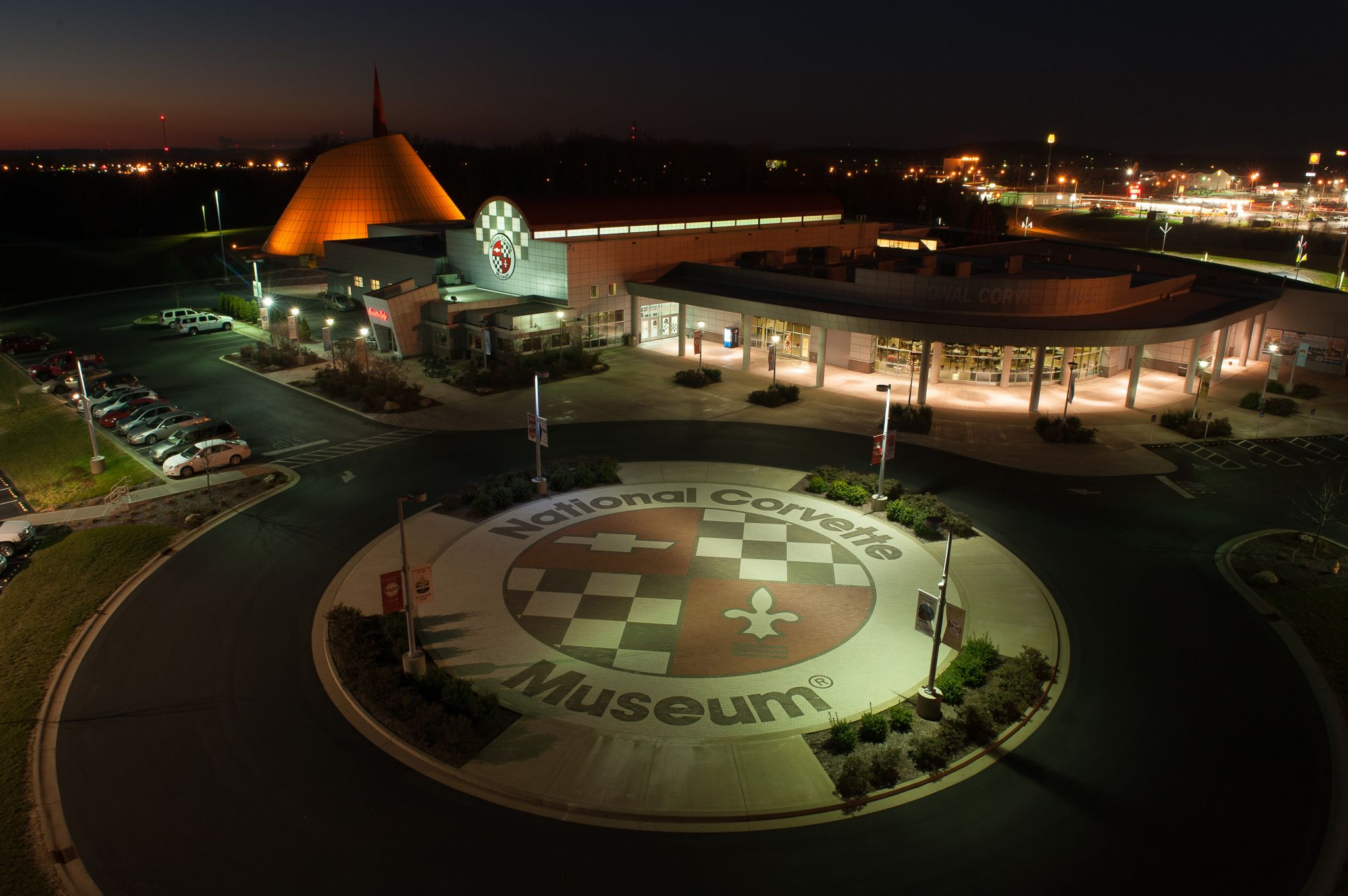 Before the light-emitting diode (LED) upgrade, metal halide fixtures consumed a lot of energy and required ongoing maintenance at the National Corvette Museum in Bowling Green, Kentucky.
