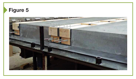 Part of the production process of hybrid slabs and wood in metal frames is shown here.