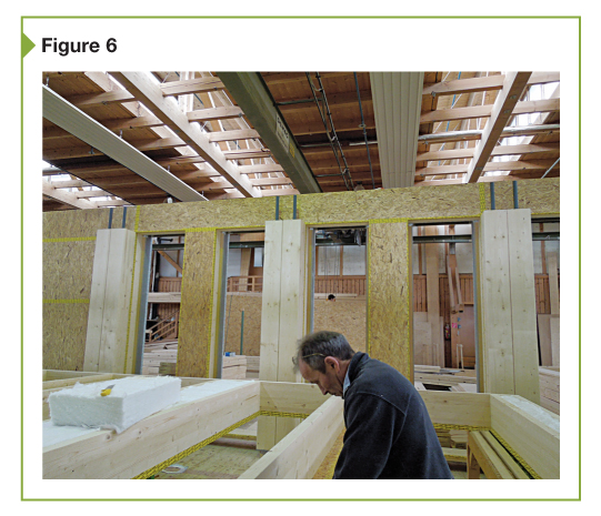 The production of timber frame walls is shown here.
