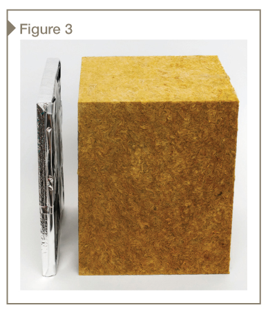 Mineral wool requires eight to 10 times the thickness to provide the equivalent insulation value of a vacuum insulation panel (VIP).