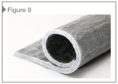 Flexible, highly insulating aerogel building insulation blanket.