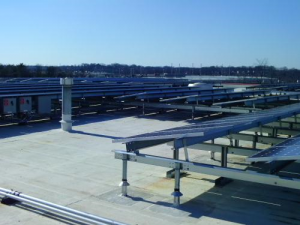 This photo shows a rack-mounted PV system.