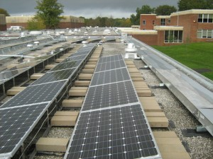 This is a ballasted PV system.