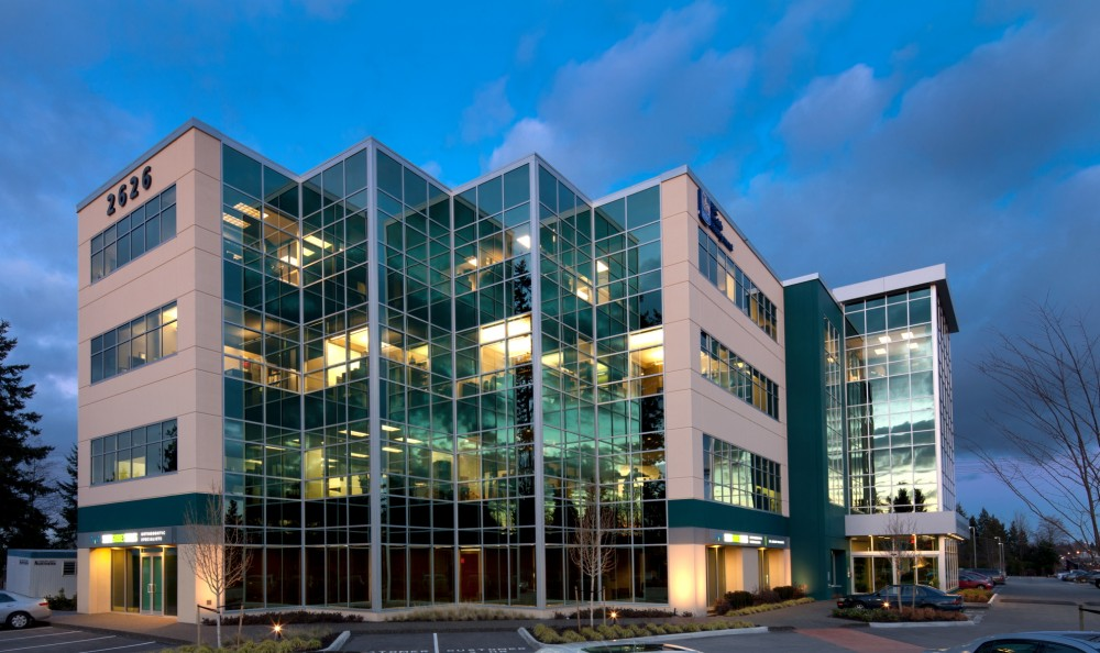 North of the border, the Grandview Business Centre (Surrey, British Columbia), combines tilt-up concrete with glass and steel. Designed by Ionic Architecture, construction work was performed by Double V Construction Ltd.
