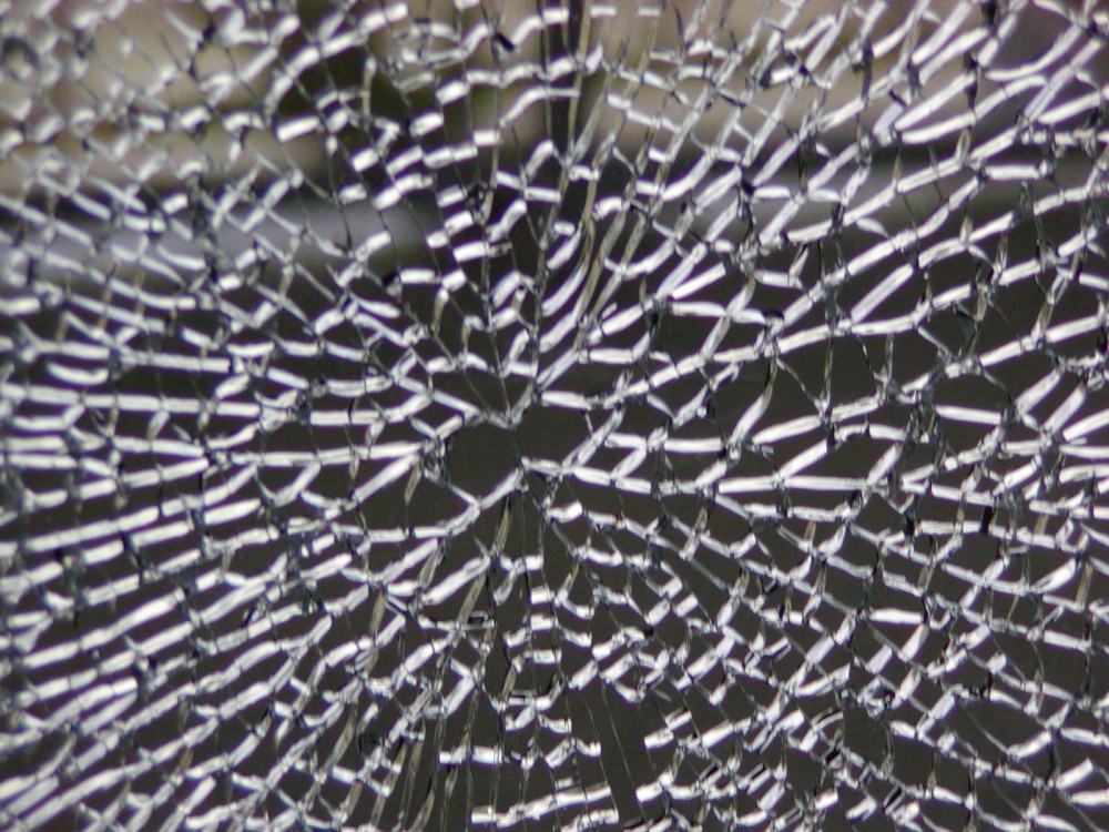 When tempered glass is broken (as shown above), it shatters into thousands of tiny pebbles, practically eliminating the danger of human injury caused by sharp edges and flying shards of glass.