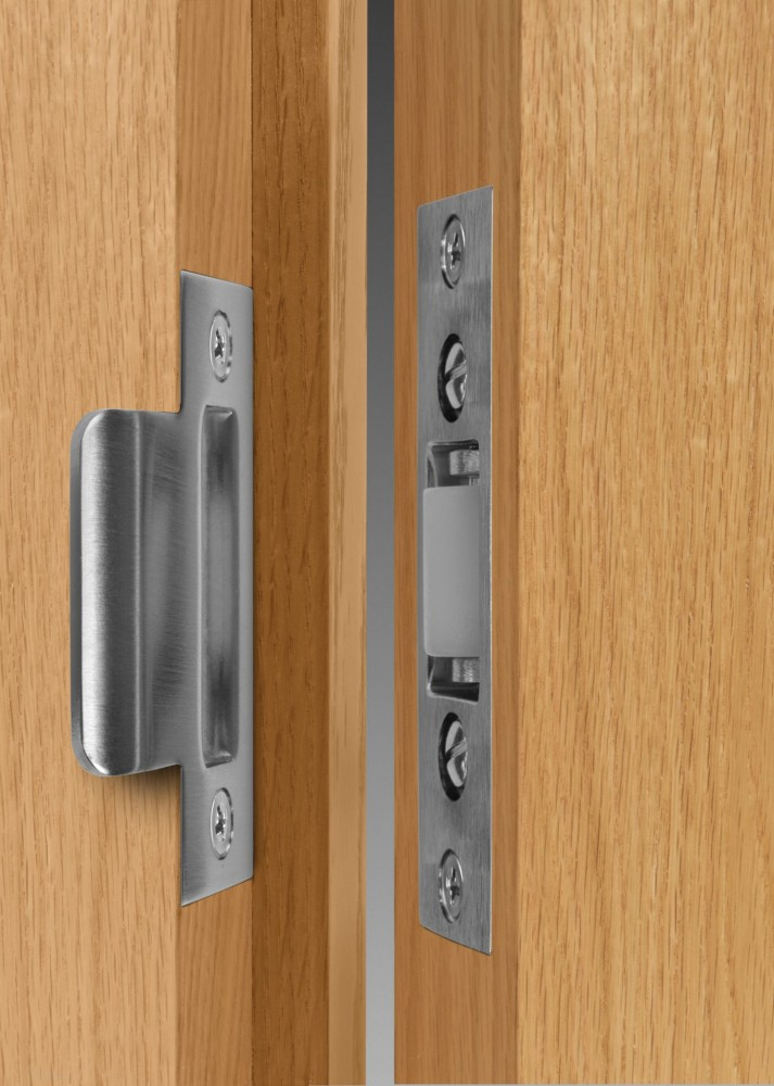 Non-fire-rated interior openings can be equipped with roller latches to provide patient privacy without locking the door.