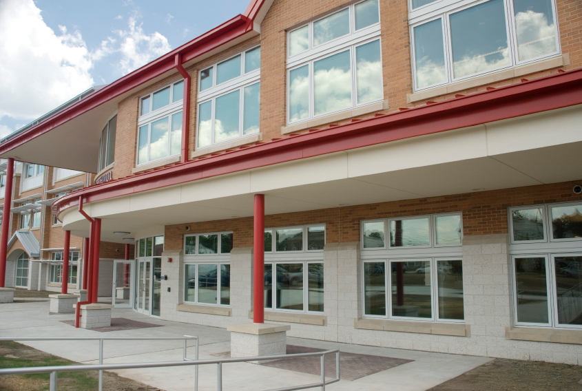 When remodeling an educational facility or building a new school, security should be a major player in the design process. Windows and doors are the easiest point of entry into a school, but they don't have to be.  Installing laminated security glass for all windows and doors makes forced entry much more difficult. Images courtesy Eastman Chemical Company