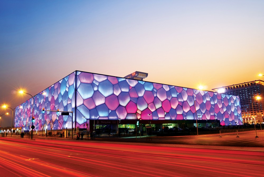 The watercube—Beijing's National Aquatic Center—may be an extreme example, but even the most basic of natatoriums can present challenges for design professionals when it comes to thermal and moisture control. Photo © BigStockPhoto/Liang Zhang