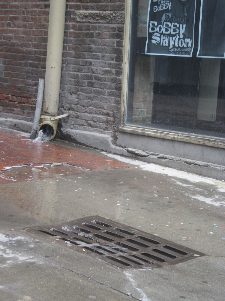 A conventional way of handling stormwater is to direct it into storm drains at fast speeds with water collecting harmful pollutants on the way.