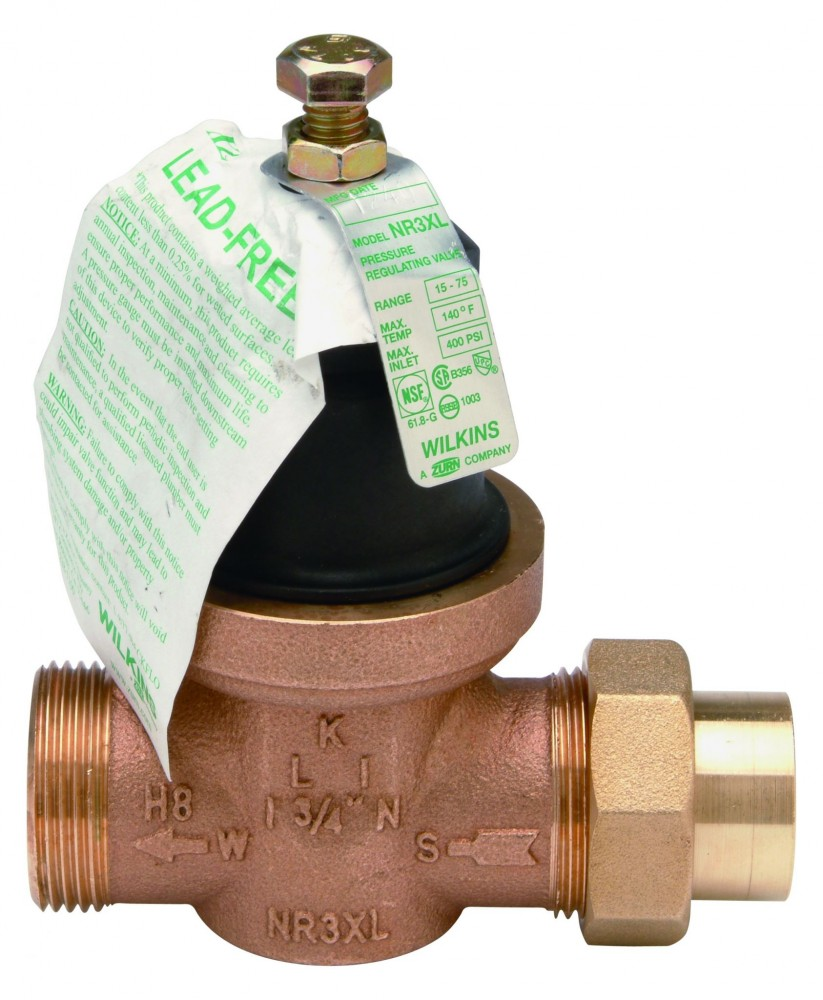 A lead-free pressure reducing valve is shown here.