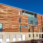Terra cotta tile was clad onto this project's insulated composite precast concrete sandwich panels.  Photos © Jacia Phillips