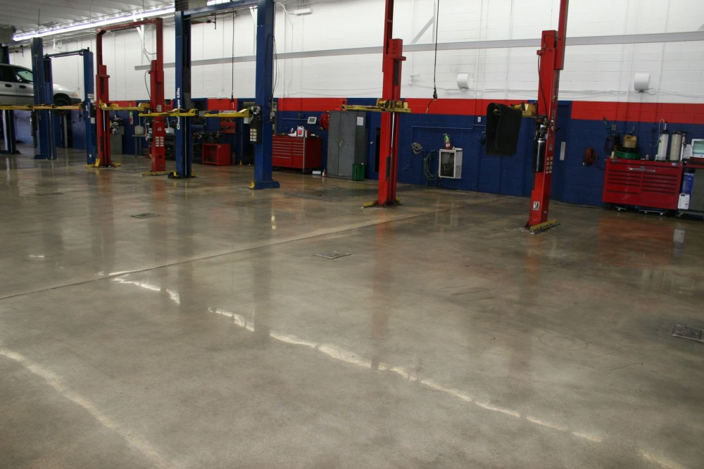 A Level 3 finished gloss was achieved on the floor of the Joe Cooper Ford car dealership in Tulsa, Oklahoma. [CREDIT] Photo courtesy Ardor Solutions Inc.